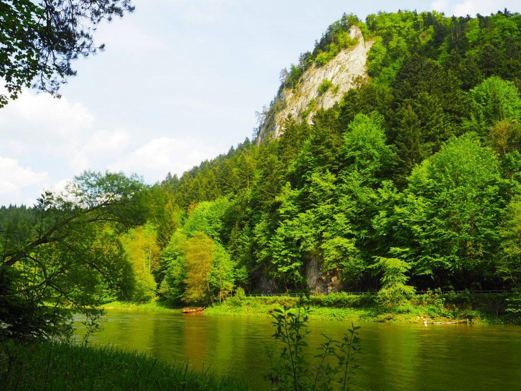 Rzeka Dunajec w otoczeniu pięknych gór