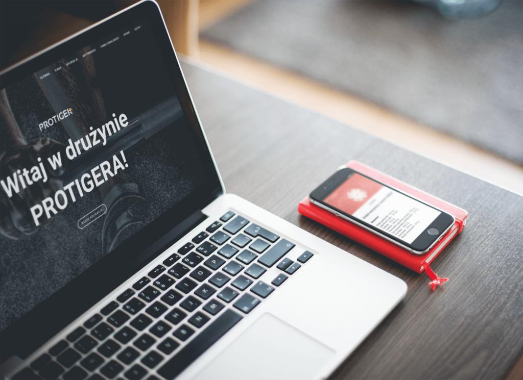 Aplikacje mobilne Protiger promujący zdrowy tryb życia