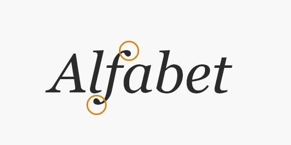 typografia - przykład szeryfów
